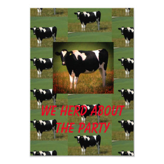 Cow Herd Party Card