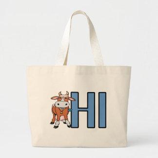 Cow Hi Large Tote Bag