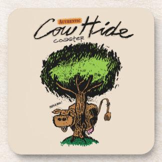 Cow Hide 2 Cork Coaster
