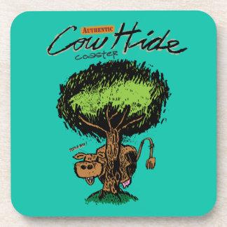 Cow Hide Cork Coaster
