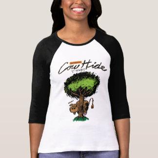 Cow Hide Ladies 3/4 Sleeve Raglan (Fitted) T-Shirt