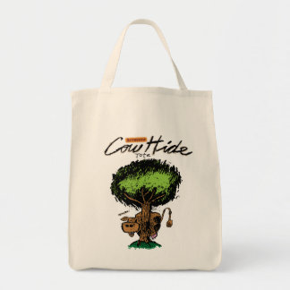 Cow Hide Organic Grocery Tote