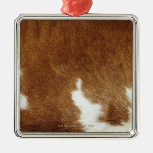 Cow hide ornaments