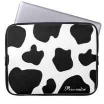 Cow hide pattern laptop sleeve | Cute animal print