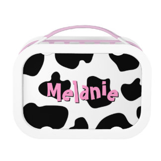 Cow hide pattern lunchbox   Custom cowgirl print