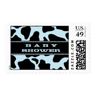 Cow Hide Print Cowboy Baby Shower Postage