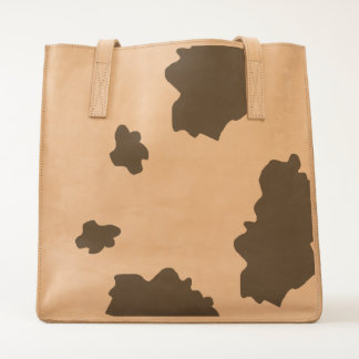 Cow Hide Print Leather Adventure Tote