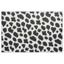 Cow hide print patterned fabric