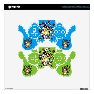 Cow Hippie Decal For PS3 Controller