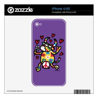 Cow Hippie iPhone 4 Skin
