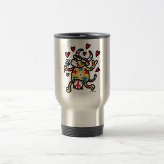 Cow Hippie Travel Mug