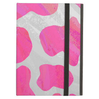 Cow Hot Pink and White Print iPad Air Cover