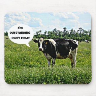 Cow Humor Mouse Pad