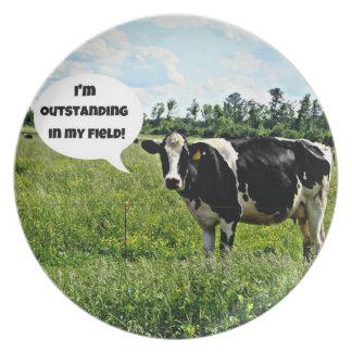 Cow Humor Dinner Plates