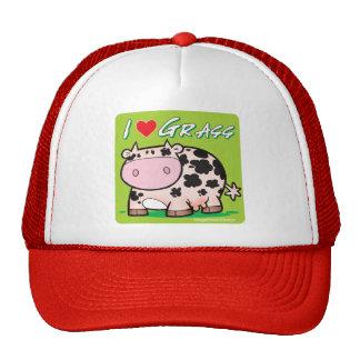 Cow I love grass Trucker Hat