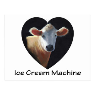 COW: ICE CREAM MACHINE: ART POSTCARD