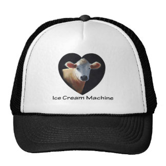 COW: ICE CREAM MACHINE: ART TRUCKER HAT