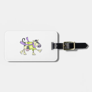 COW ICE SKATING TAGS FOR BAGS