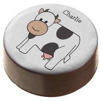 Cow illustration custom name cookies