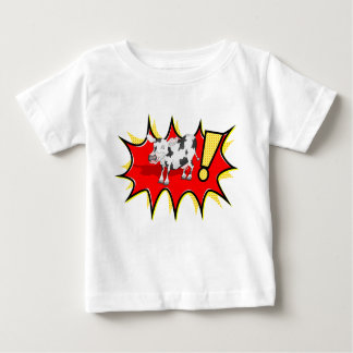 Cow in a KAPOW starburst T Shirts