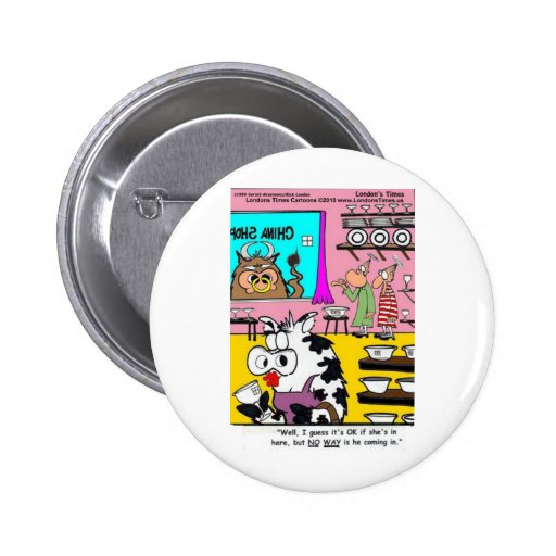 Cow In China Shop Funny Mugs Tees Cards & Gifts Buttons