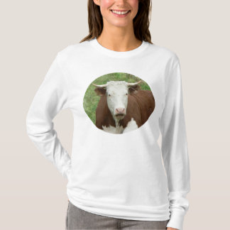 Cow in Grass Cameo Long Sleeve Shirt