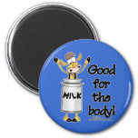 Cow in Milk Can 2 Inch Round Magnet