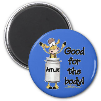 Cow in Milk Can Magnet