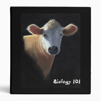 Cow in Pastel: Biology Binder: School, College Binder