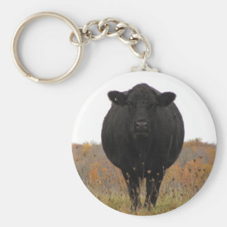 Cow in pasture keychain
