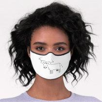 Cow in scripting language premium face mask