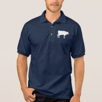 Cow in Silhouette Polo Shirt