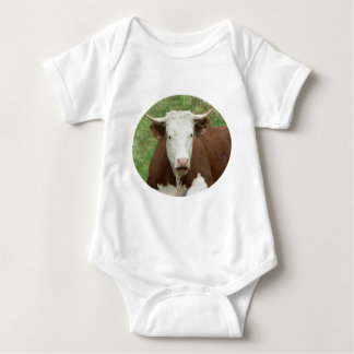 Cow in the Grass Cameo Baby Body Shirt