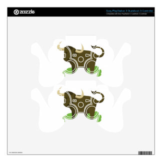 cow in the grass PS3 controller decal