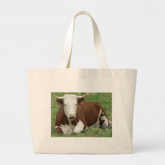 Cow in the Grass Tote Bag