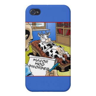 Cow In Therapy 4 Mooo Disorder Gifts Cards iPhone 4/4S Case