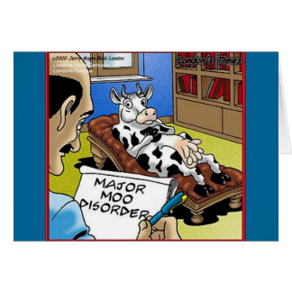 Cow In Therapy 4 Mooo Disorder Gifts Tees Cards