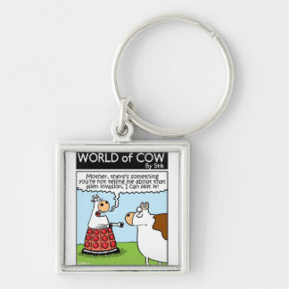 Cow Invaded Keychain