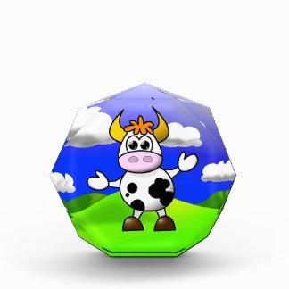 Cow is Here Acrylic Award