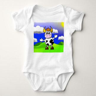 Cow is Here Baby Bodysuit