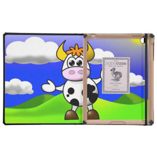 Cow is Here Cases For iPad