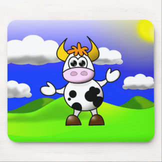 Cow is Here Mouse Pad