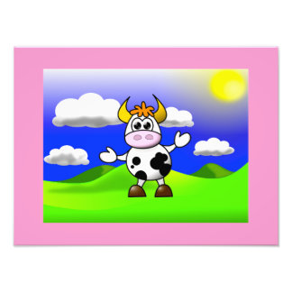 Cow is Here Photographic Print