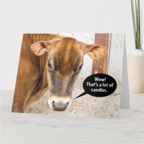 Cow Is Mad Birthday Card