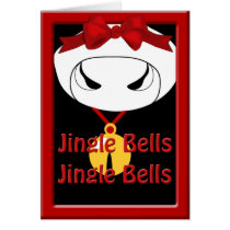 Cow Jingle Bell Christmas Greeting Card