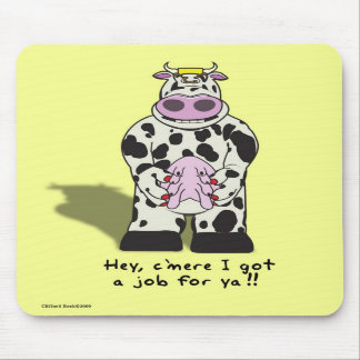 Cow Job Mouse Pad