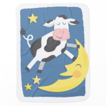 Cow Jumped Over the Moon Baby Blanket