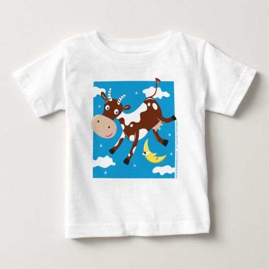 """Cow Jumped Over the Moon"" Baby T-Shirt"