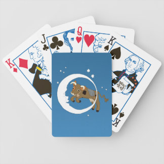 Cow Jumped Over the Moon Bicycle Playing Cards