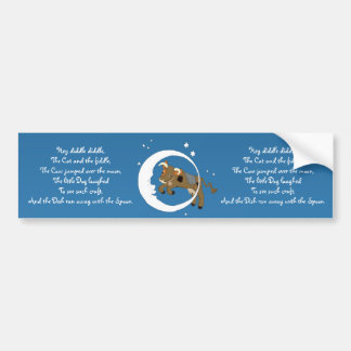 Cow Jumped Over the Moon Bumper Sticker